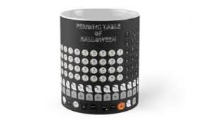 Periodic Table Mug Halloween Periodic Table Wallpaper With 118 Elements