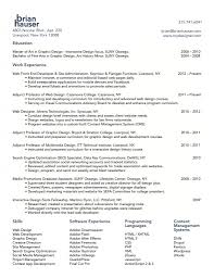 Graphic Designer Sample Resume by Web Design Resume Haadyaooverbayresort Com