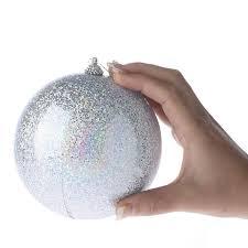 large iridescent silver ornament ornaments
