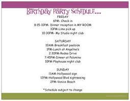 Dinner Party Agenda - birthday party my blog