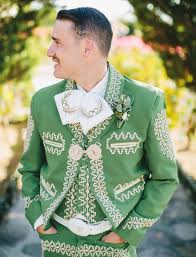 the groom groomsmen wore green charro suits at this wild baja