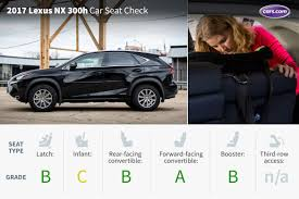 lexus nx and toyota rav4 2017 lexus nx 300h car seat check news cars com