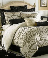 Fleur De Lis Comforter Waterford Bedding Pomona Queen Comforter Black Cream