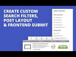 wordpress search layout create custom search filters post layout frontend submit in