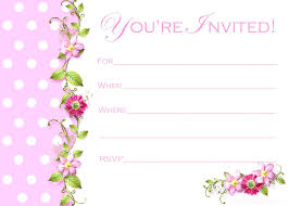 birthday invitation card templates free birthday invitations