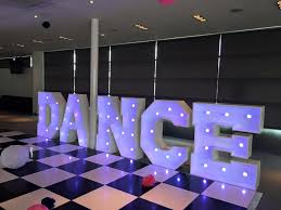 large light up letters venue dressing venue styling weddings corporate liverpool