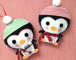Felt Penguin Christmas Ornament Patterns - 81 best christmas felt ornament images on pinterest christmas