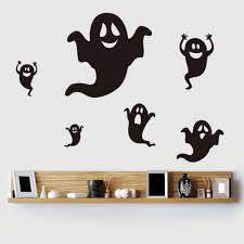 halloween ghost shape diy wall stickers black in wall stickers