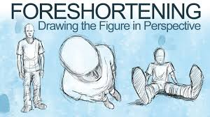how to draw a figure in perspective foreshortening