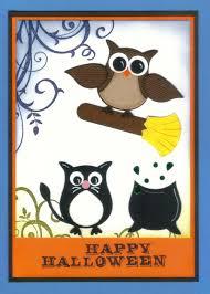 owl halloween cupcakes cupcake punch cards ideas pooh u0026 piglet punch art card using