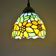 stained glass dining room light tiffany hanging l pendant light stained glass sunflower country