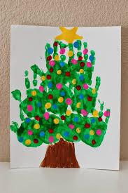 handprint tree on canvas preschool