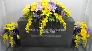 Flower Vase For Grave Memorial Cemetery Silk Flower Headstone Tombstone Saddle