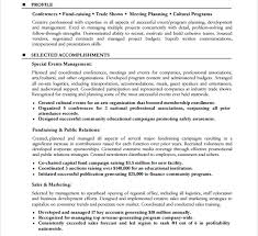 Sample Resume Event Coordinator by 10 Event Planner Resume Templates Free Samples Examples