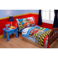 Elmo Bedding For Cribs Sesame Firefighter Elmo Department 4pc Toddler Or Crib