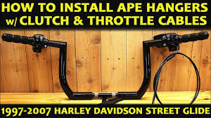 how to install ape hangers on harley davidson street glide the