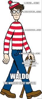 Waldo Meme - hipster waldo memes quickmeme