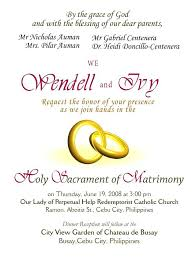 wedding invitations philippines wedding invitation sle 5792 also sle wedding invitation