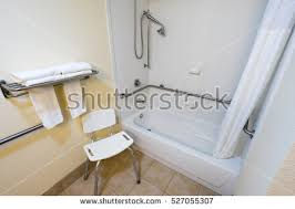 Bathtub Handicap Railing Handicapped Access Bathroom Grab Bars Toilet Stock Photo 295152173