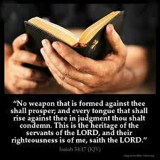 isaiah 54 17 kjv bible scriptures bible king