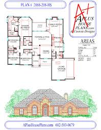 4 Bedroom 2 Bath House Plans House Plan 2068 208 Hs Traditional Stone Front Elevation 2068