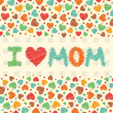i love mom mother u0027s day card with hearts vector image 97448