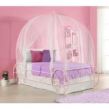 Pink Bed Frames Dhp Princess Carriage Metal Bed Free Shipping Today