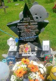headstones for babies cemetery removes their s headstone because it distressed