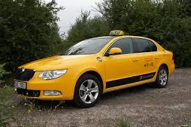 prague car yellow cabs prague modrý anděl