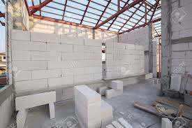 Concrete Block House White Lightweight Concrete Block Foamed Concrete Block Raw