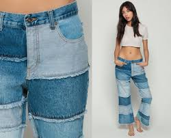 Flared High Waisted Jeans Bell Bottoms Jeans Hippie Pants High Waisted Jeans 90s Denim