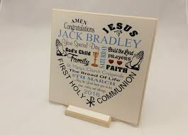 communion gifts boy communion gift boy girl personalised wooden plaque