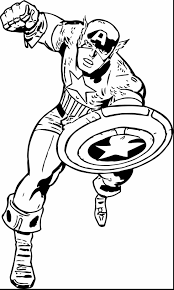 terrific drawing captain america coloring page with captain