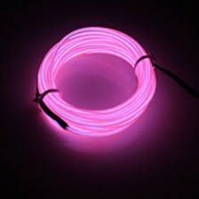 lerway pink 5m neon glowing electroluminescent wire