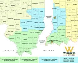 Illinois On Map by Areas Wiesneth Law Terre Haute Evansville Vincennes