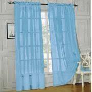 Blue Sheer Curtain Sheer Curtains Walmart