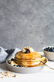 creme fraiche cuisine crème fraîche pancakes with bananas blueberries and toasted