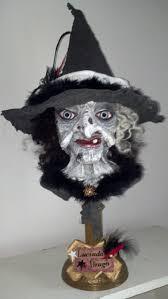 halloween busts halloween folk art by jan pierce moonhallow vintage