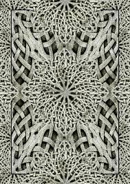 ancient arabesque ornament artwork stock illustration