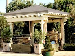 Gazebo With Awning Patio Shade Tops And Tarps Superior Awning