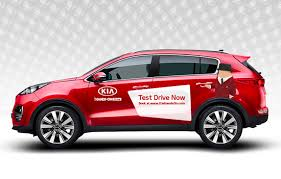 test drive kia gets on with test driving