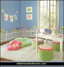 White Wooden Picket Fences For Kids Room Wall Border Garden Room - Wall borders for kids rooms