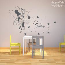 Wall Decal Letters For Nursery Mini Mouse Name Wall Sticker Diy Baby Nursery Custom Name Wall