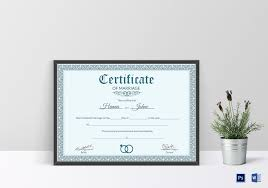 formal marriage certificate design template in psd word