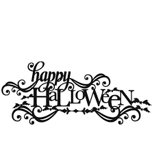 happy halloween svg scrapbook title svg cutting files crow svg cut