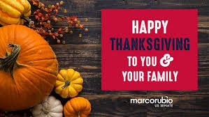 marco rubio on wishing everyone a happy thanksgiving