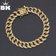 cuban bracelet images 925 silver cuban bracelet micro pave cubic zircon gold finish hip jpg