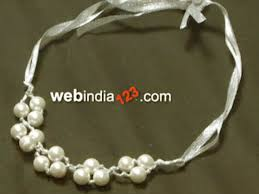 pearl necklace with ribbon images Satin ribbon pearl necklace how to make satin ribbon pearl jpg