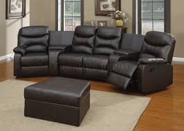 Black Leather Reclining Sectional Sofa Furniture Leather Sectional Couches In Cream Theme For Inspiring