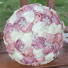 silk roses made diamond pearl silk roses bridesmaid bridal artificial